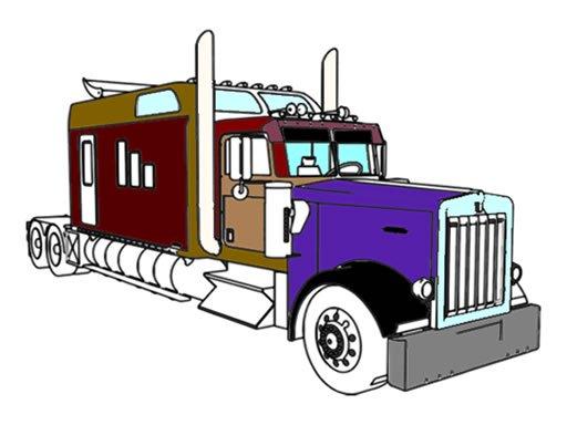 Американские грузовики раскраски