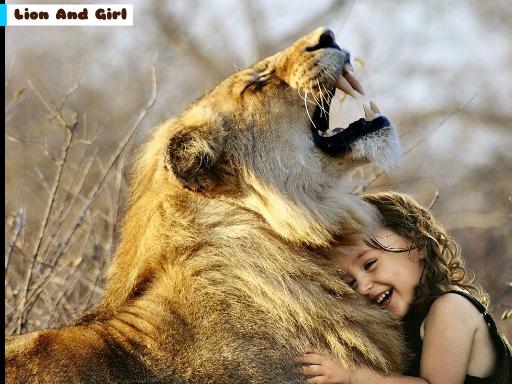 Lion And Girl Jigsaw